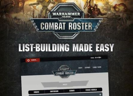 Warhammer 40,000 Combat Roster: Live Now