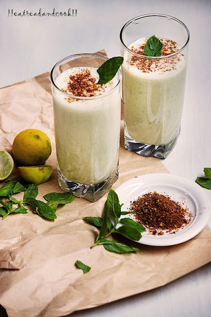 how to make Mint Salted Lassi recipe