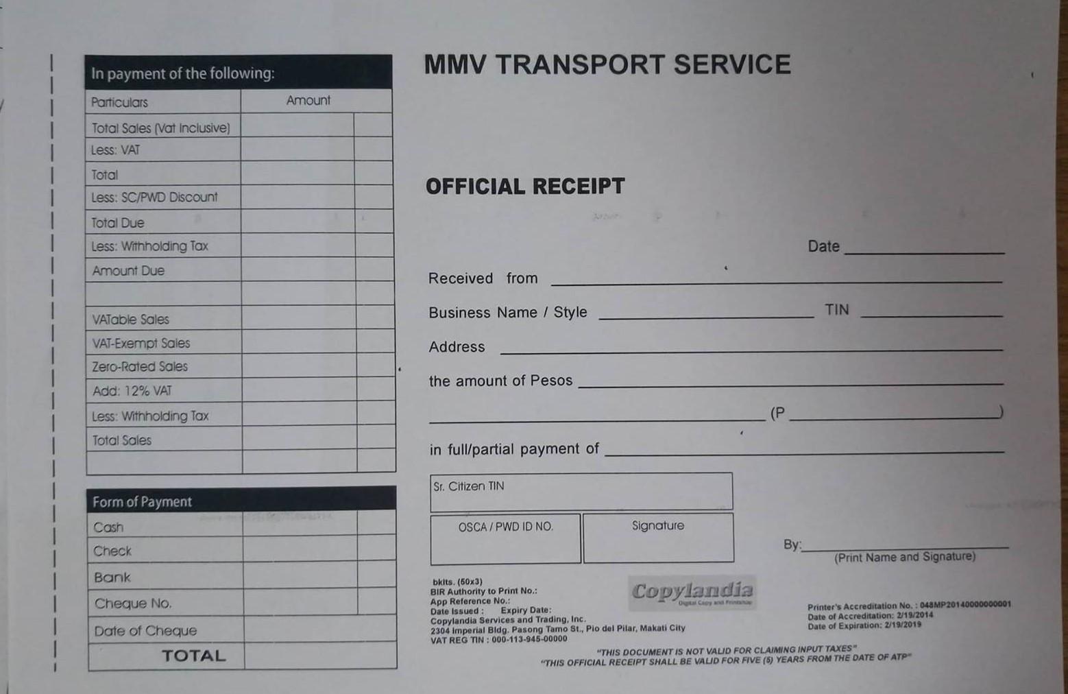 Uber Vehicle List >> How to Register Certificate of Registration in BIR for ...