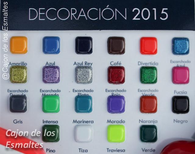 Carta de colores para decoración - Masglo