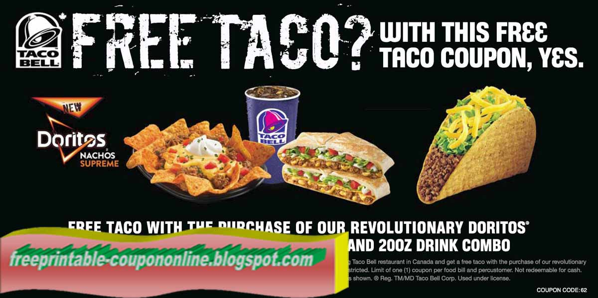 Taco bell coupons netherlands