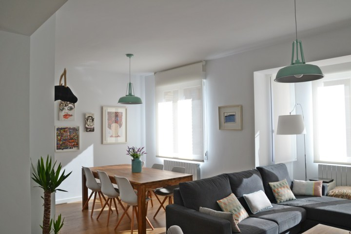 Sala de jantar com decora o de inspirada no estilo for Piso estilo nordico