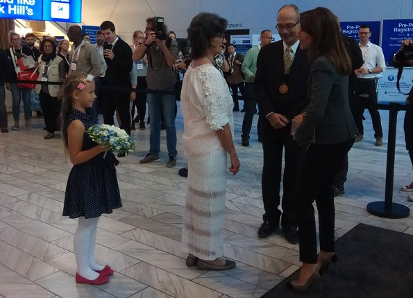 Princess Marie attended opening of the 42nd Small Animal Veterinary Euro- and World Congress at the Bella Center
