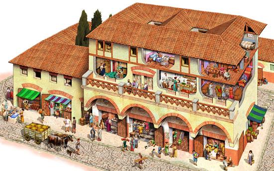 palazzina romana con veranda