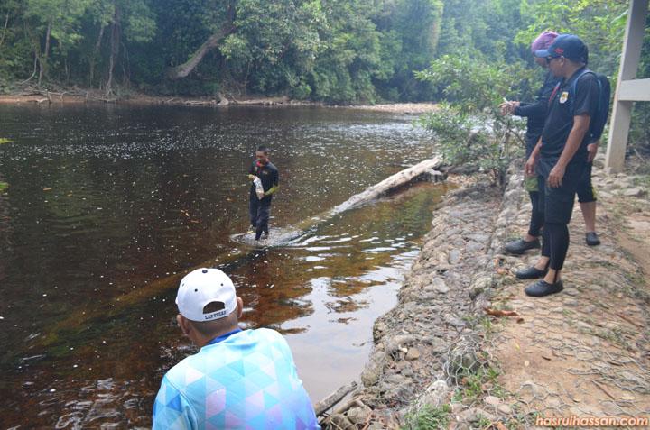 Lubuk penuh ikan saiz mega di Sungai Tahan