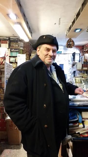 Luigi Frizzo at Acqua Alta book store