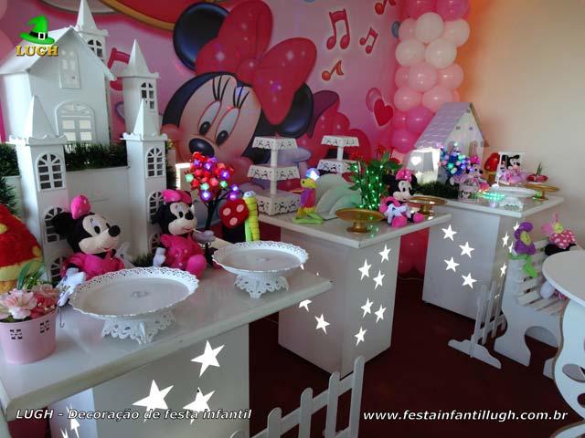 Festa de aniversário tema Minnie Rosa