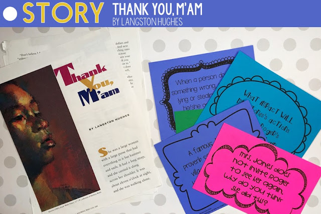 Lesson plans for Thank You M'am by Langston Hughes.