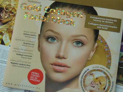 Kolagenowa maska na twarz ze złotem, GlySkinCare, Diagnosis