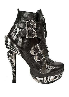 Attitude Clothing Black High heeled Ankle Boots