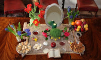 Traditional Persian New Year table items