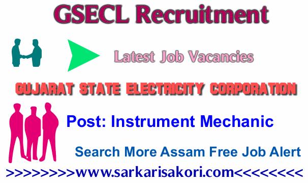 GSECL Recruitment 2017 Instrument Mechanic