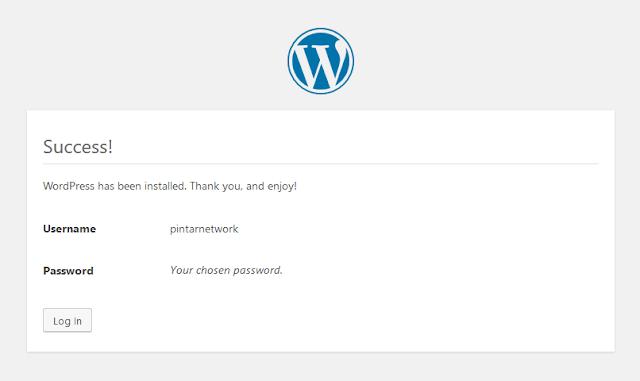 wordpress telah terinstall
