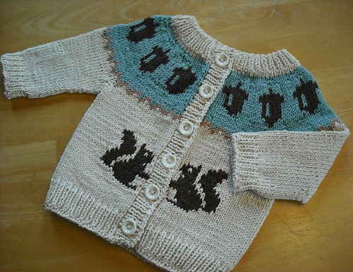 Squirrel Sweater - Free Pattern