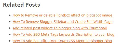 related post widget
