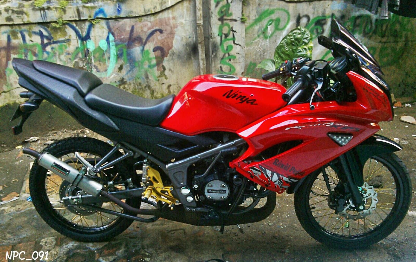 90 Modifikasi Motor Ninja Rr Warna Merah Sobat Modifikasi