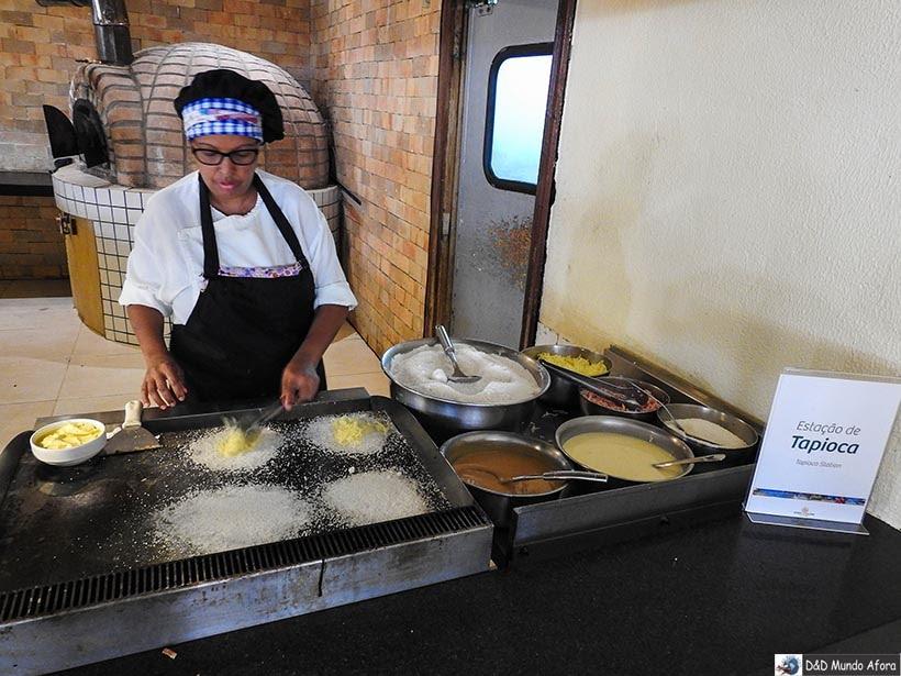 Tapioqueira do Costa do Sauipe Resort, na Bahia - Receita de Tapioca, a típica comida pernambucana
