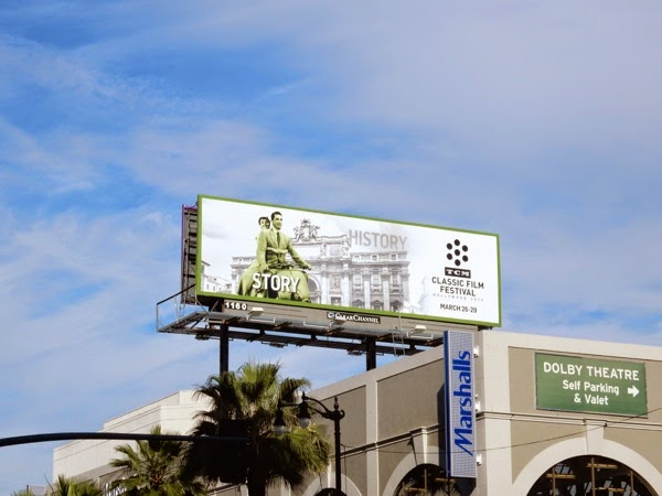 Roman Holiday TCM Classic Film Festival billboard