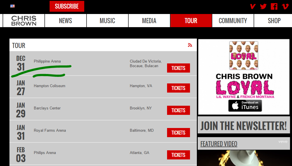 Chris Brown's Website