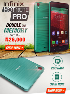 The Infinix Hot Note Pro Now Live At Jumia with N26,000 - Infinix Zero 2 is Loanding... 99% ...