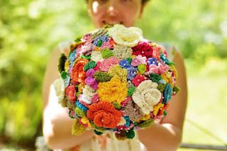 The Crocheted Flower Wedding Bouquet