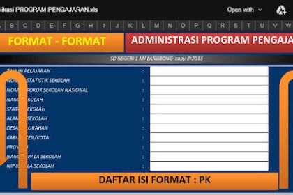 Aplikasi Berkas Administrasi Guru Format Excel Terbaru