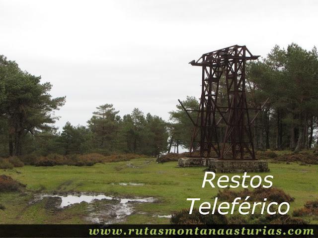 Restos teleférico en Campa Seya Fermosa