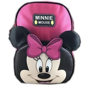 Tas Ransel Sekolah Anak TK Minnie Mouse Muka Kuping 3D TImbul - MINNIE