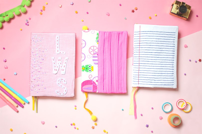 diy fabric journal covers