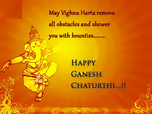 Ganesh Chaturthi SMS, Wishes in Hindi