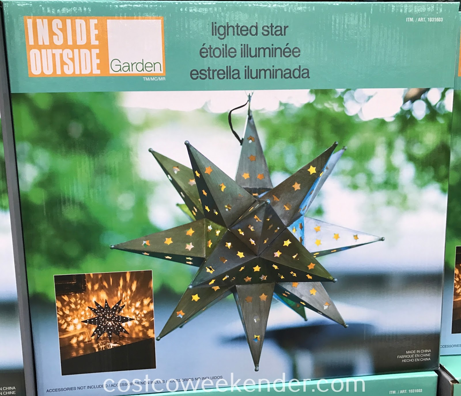 Add some character and decor to your home with the Inside Outside Garden LED Star Light