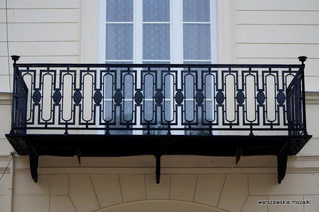 balkon Warszawa Warsaw kamienica Józefa Frageta 1830 Śródmieście architektura