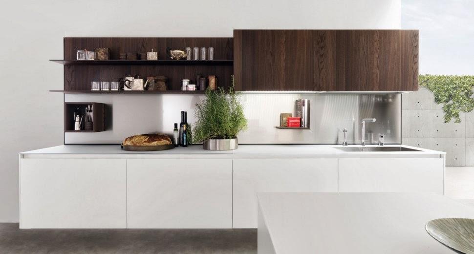Estantes para equipar las paredes de la cocina  Cocinas con estilo