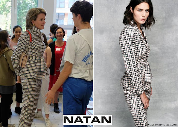Queen Mathilde wore Natan pantsuit Natan Collection