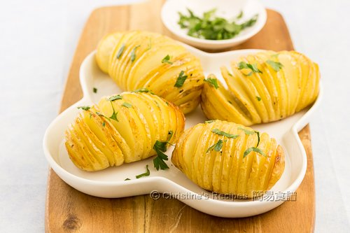 手風琴馬鈴薯 Hasselback Potatoes02