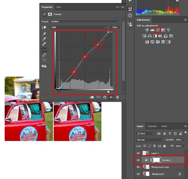 mengedit foto dengan curve adjustment di photoshop mudah