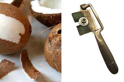 Dụng cụ nạo vỏ lụa cùi dừa