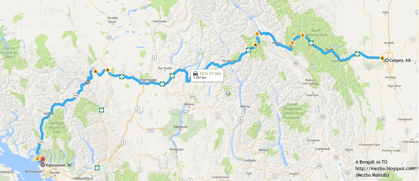 or you can continue from revelstoke to kamloops before catching highway 5 south either of these is scenic beautiful and sane