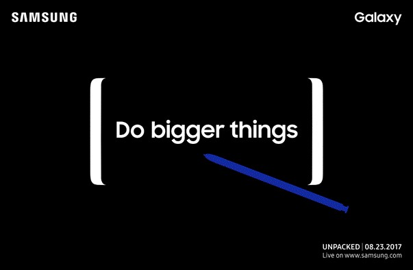 It's finally here! Samsung has confirmed the launch event of the new Galaxy Note8 through press invitation according to GSMArena report.