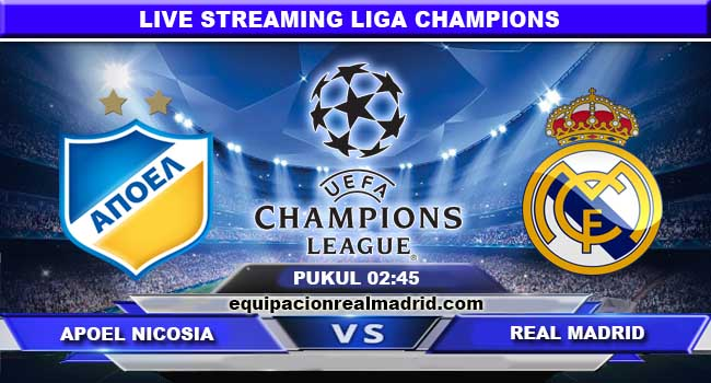 live streaming apoel vs real madrid 22 november 2017