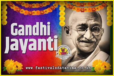 2040 Gandhi Jayanti Date and Time, 2040 Gandhi Jayanti Calendar
