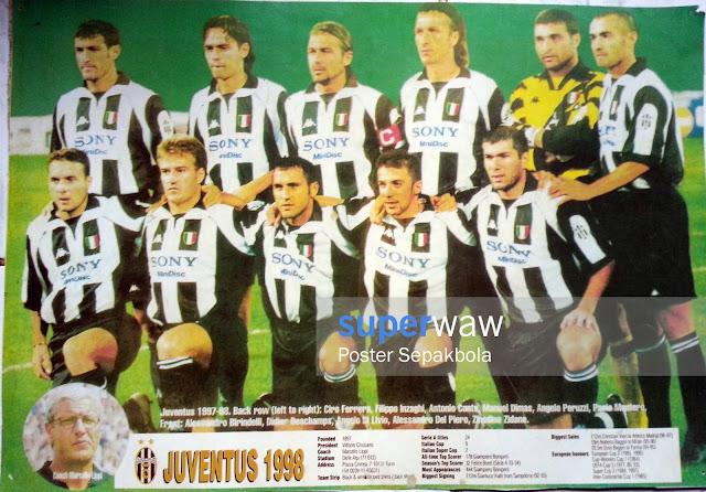 Poster Tim Juventus 1998
