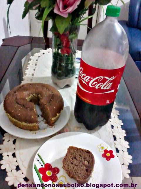 bolo de chocolate com coca cola