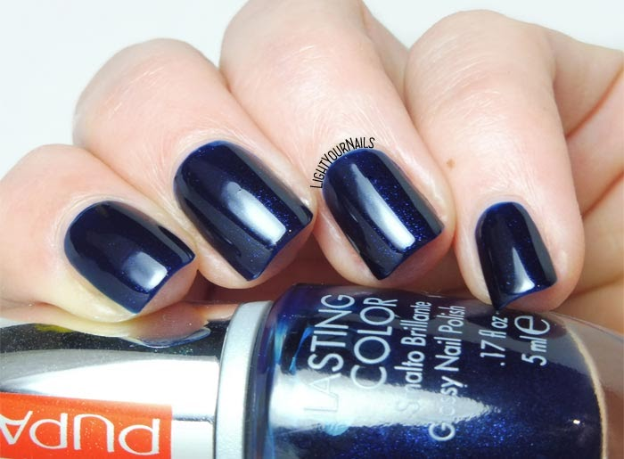 Smalto blu Pupa 702 Midnight Blue nail polish #nails #unghie #smalto #pupa #lightyournails