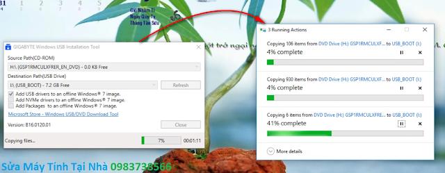 Quá trình tạo USB cài đặt Win 7 lên dòng main Sky Lake