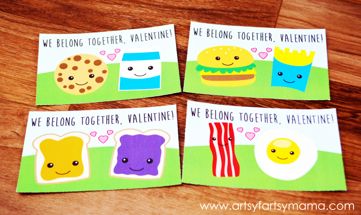 "Free Printable ""We Belong Together"" Valentines at artsyfartsymama.com #freeprintable #Valentines"