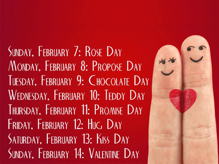 Valentines Week List