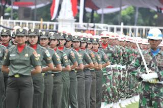 Ribuan Personel TNI Terlibat HUT RI Ke-71 di Istana Negara