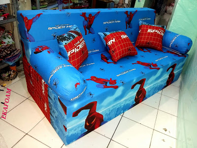 sofa bed inoac motif spiderman