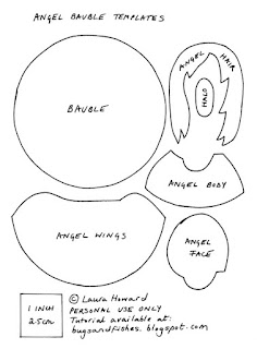 felt angel ornament templates